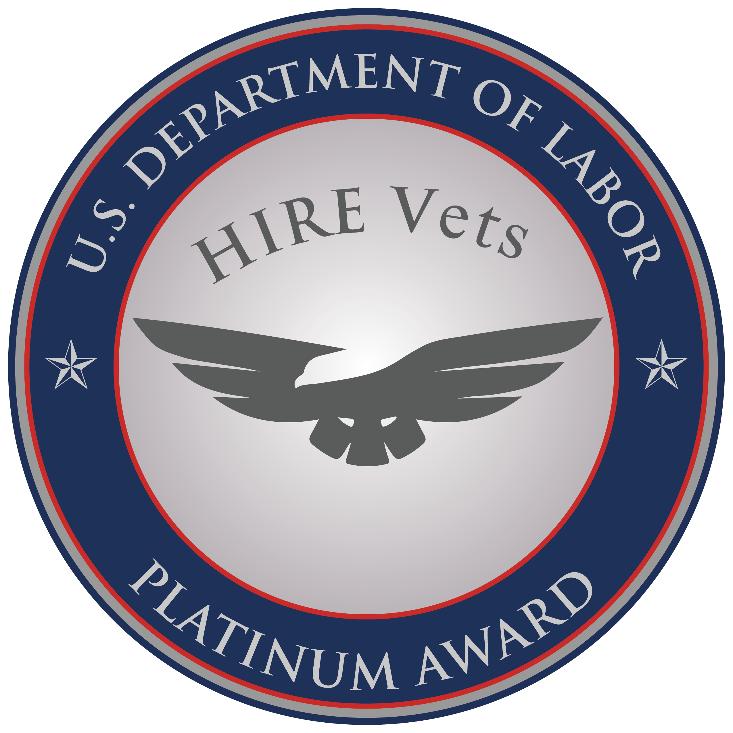 DOL Platinum Award for Veteran Hiring